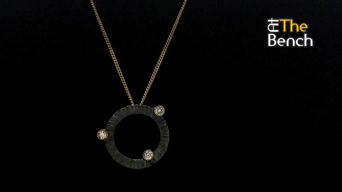 Diamond Set Tube Pendant