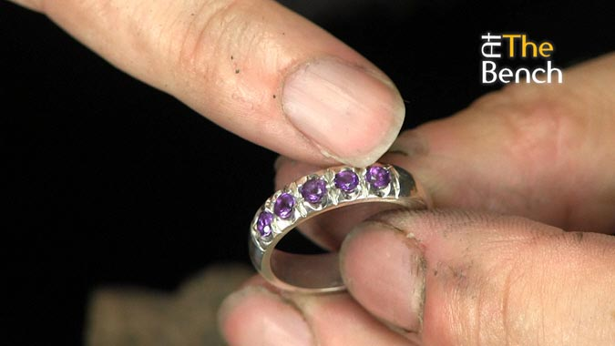 Amethyst Half Eternity Ring