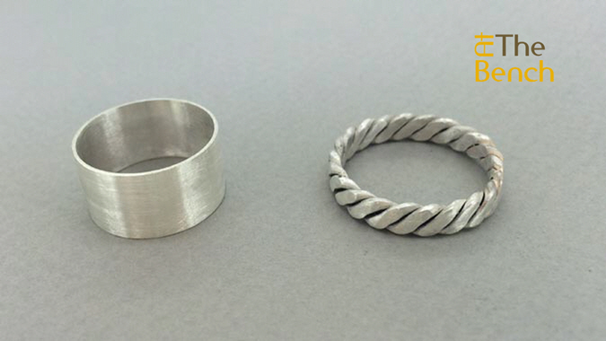 Ring with 3 Strand Spinner Ring