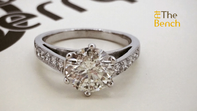 A New Diamond Solitaire Setting