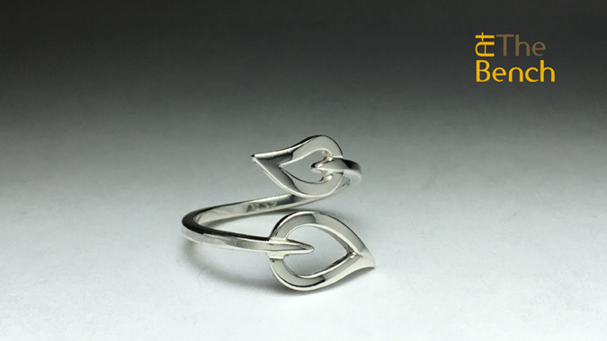 Stone Set Leaf Ring