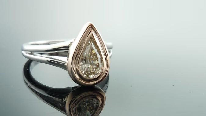 Double Bezel Pear Shape Setting
