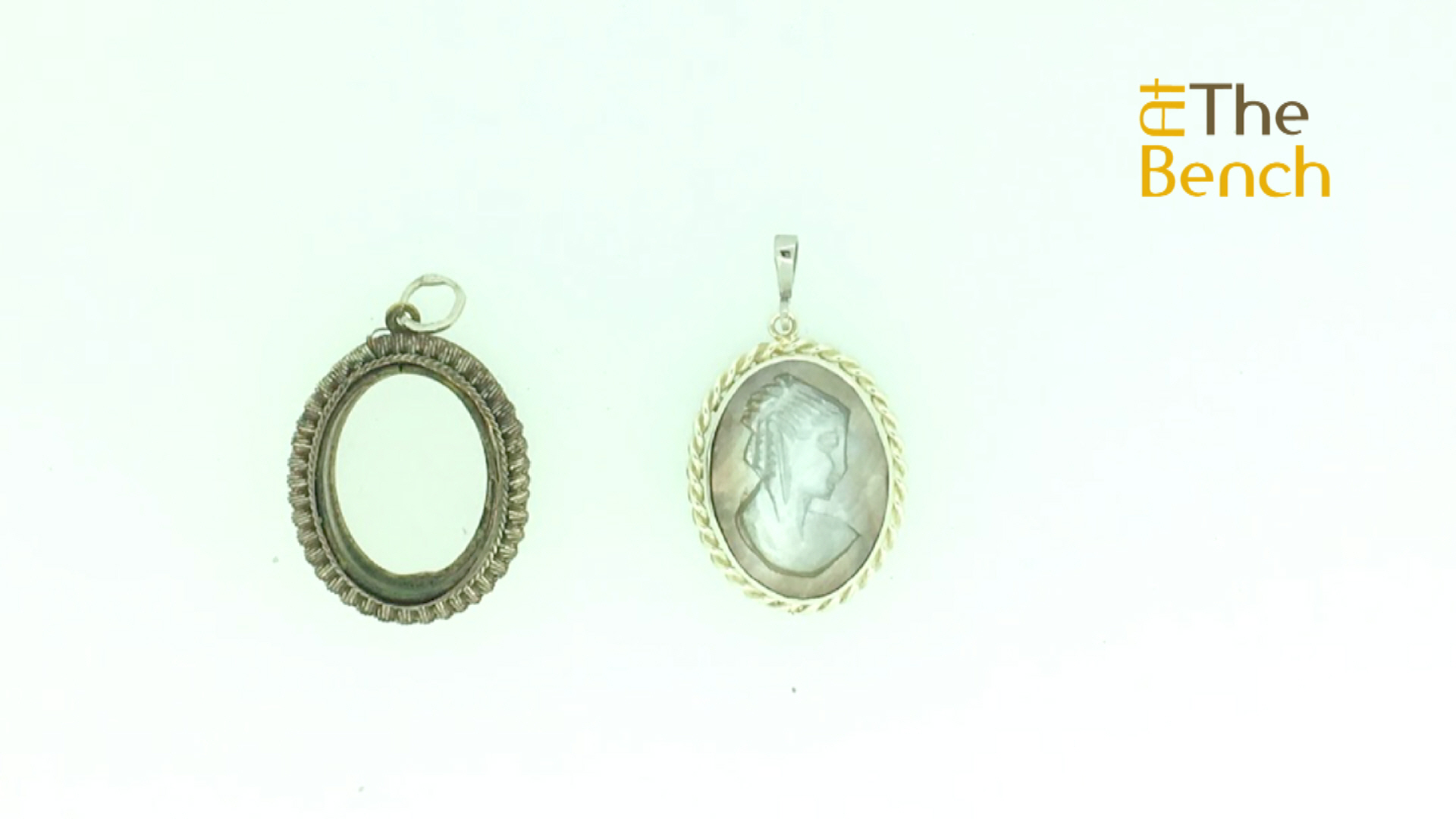 White Gold Cameo Pendant