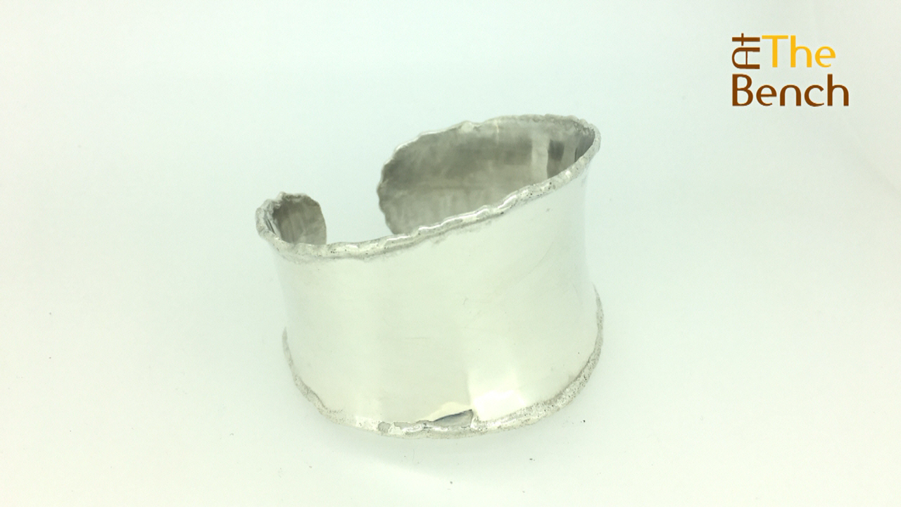 Melted Edge Silver Cuff